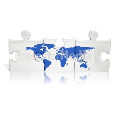 Puzzle Pieces World PowerPoint Clip Art