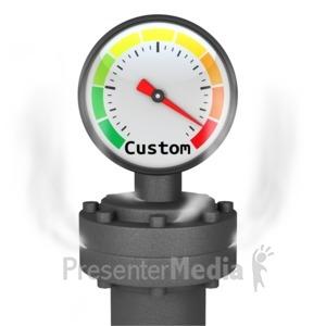 ID# 13793 - Custom Pressure Gauge - Presentation Clipart