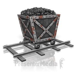 ID# 13794 - Coal Mining Cart - Presentation Clipart