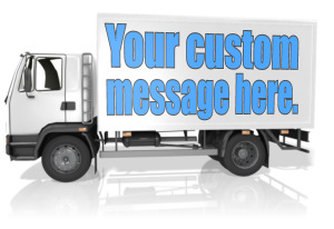 ID# 13802 - Custom Text Delivery Truck - Presentation Clipart