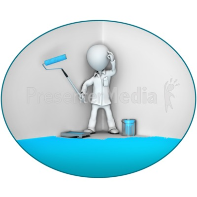 Paint Oneself Into A Corner PowerPoint Clip Art