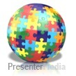 Colored Puzzle Globe Presentation clipart