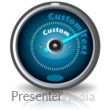 ID# 13833 - Custom Text Gauge - Presentation Clipart