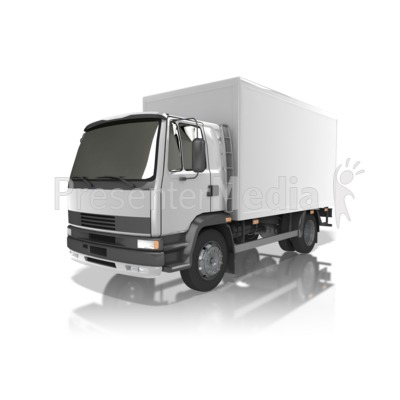 Delivery Truck PowerPoint Clip Art