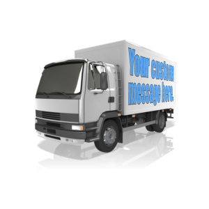 ID# 13837 - Custom Text Delivery Truck - Presentation Clipart
