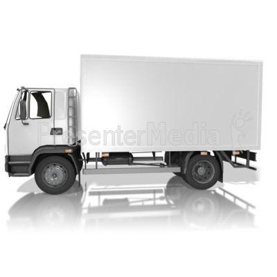 Blank Delivery Truck PowerPoint Clip Art