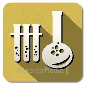ID# 13840 - Chemistry Square Icon - Presentation Clipart
