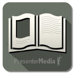 ID# 13841 - Book Square Icon - Presentation Clipart