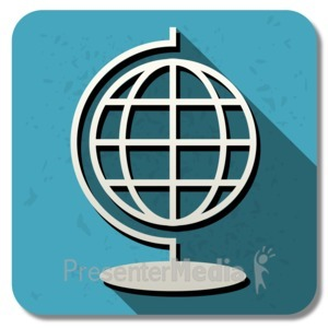 ID# 13842 - Geography Square Icon - Presentation Clipart