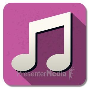 ID# 13843 - Music Square Icon - Presentation Clipart