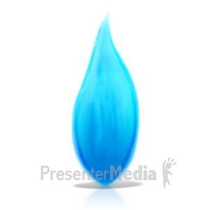 ID# 13844 - Propane Flame - Presentation Clipart