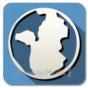 ID# 13850 - History Square Icon - Presentation Clipart