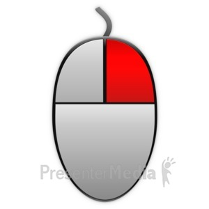 ID# 13866 - Right Mouse Highlight Icon - Presentation Clipart