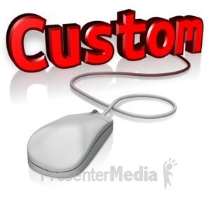 ID# 13872 - Custom Text Mouse - Presentation Clipart