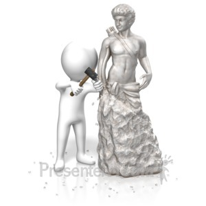 ID# 13873 - Figure Carving Statue - Presentation Clipart