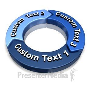 ID# 13883 - 3 Piece Chevron Text - Presentation Clipart