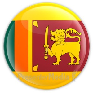 ID# 13886 - Sri Lanka Badge - Presentation Clipart