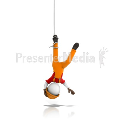 Worker Tangled Hanging Upside Down 3d Figures Great