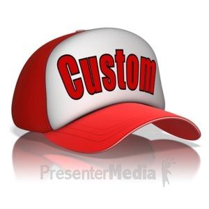ID# 13899 - Custom Text Hat - Presentation Clipart