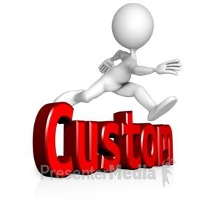 ID# 13901 - Figure Jump Custom Text - Presentation Clipart