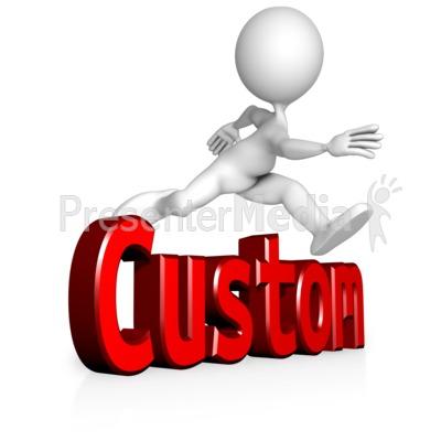 Figure Jump Custom Text PowerPoint Clip Art