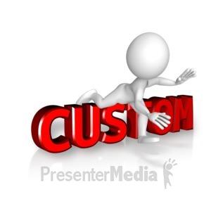 ID# 13907 - Figure Trips Custom Text - Presentation Clipart