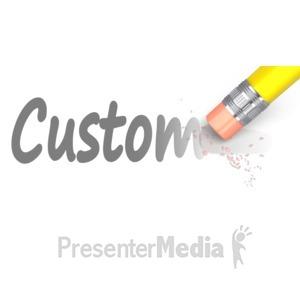 ID# 13912 - Erase Custom Text - Presentation Clipart