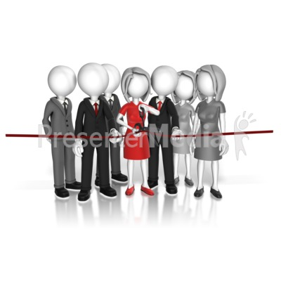 Cut The Ribbon Ceremony PowerPoint Clip Art