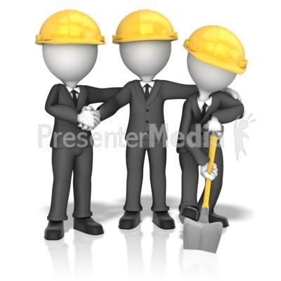 Business Figures Breaking Ground PowerPoint Clip Art