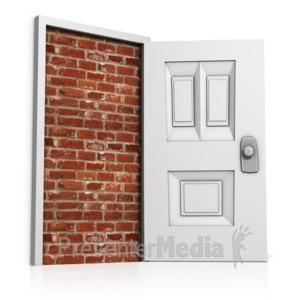 ID# 13960 - Blocked Door - Presentation Clipart