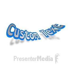 ID# 13970 - Bent Text - Presentation Clipart