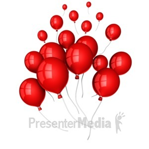 ID# 13975 - Balloons Floating Away - Presentation Clipart