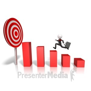 ID# 13978 - Market Target Graph - Presentation Clipart