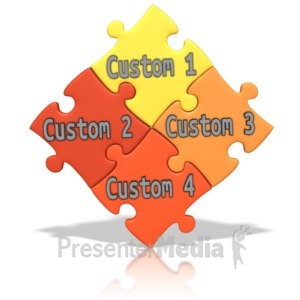 ID# 13987 - Custom Puzzle Words - Presentation Clipart