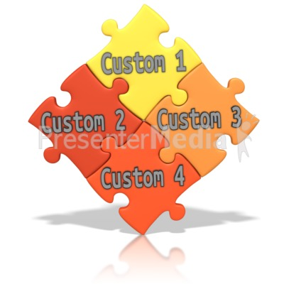 Custom Puzzle Words PowerPoint Clip Art