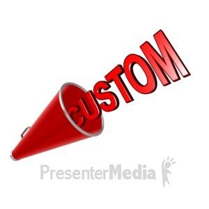ID# 14003 - Custom Text Megaphone - Presentation Clipart