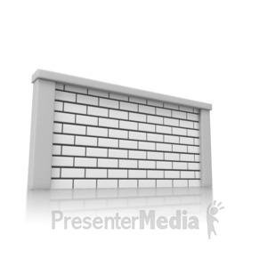 ID# 14006 - Solid Brick Wall - Presentation Clipart
