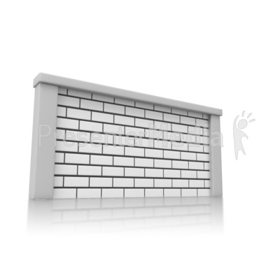 Solid Brick Wall PowerPoint Clip Art