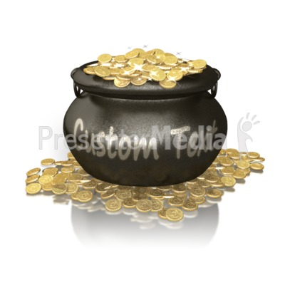 Custom Pot Of Gold PowerPoint Clip Art