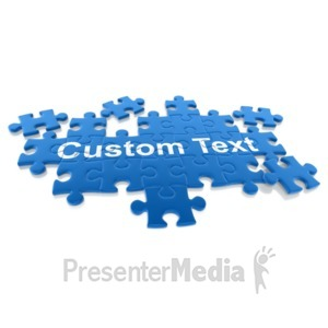ID# 14020 - Puzzle Pieces Custom - Presentation Clipart