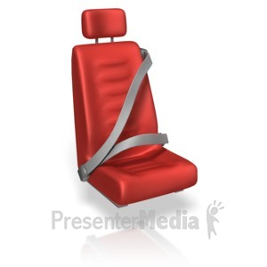 ID# 14021 - Seat Belts Over Seat - Presentation Clipart