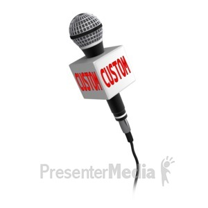 ID# 14022 - Custom Text Microphone - Presentation Clipart