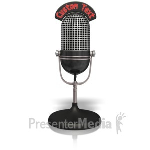 ID# 14027 - Custom Radio Microphone - Presentation Clipart