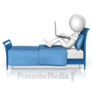 ID# 14033 - Figure Bed Computer - Presentation Clipart