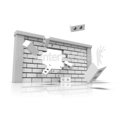 Brick Wall Broken PowerPoint Clip Art