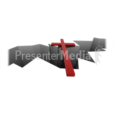 Presenter media powerpoint templates 3d animations and clipart id 14039 cross over crack presentation clipart toneelgroepblik Images