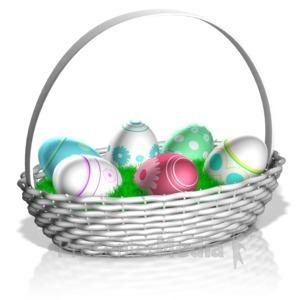 ID# 14040 - Easter Basket - Presentation Clipart