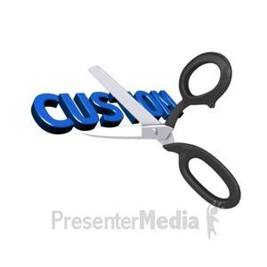 ID# 14041 - Cutting Custom Text - Presentation Clipart