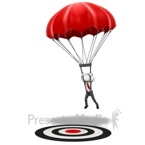 ID# 14044 - Parachute Hit Target - Presentation Clipart