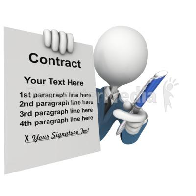 Custom Contract Sign PowerPoint Clip Art